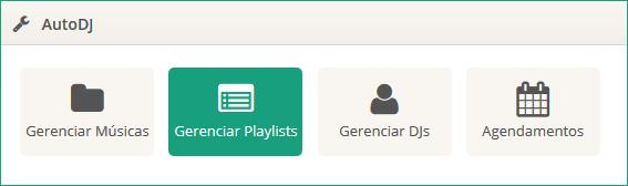 Botão 'Gerenciar Playlists'