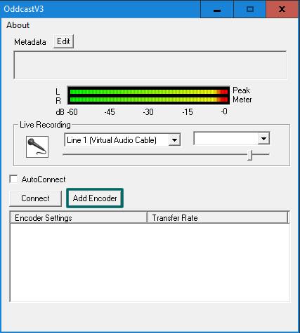 Botão 'Add Encoder'
