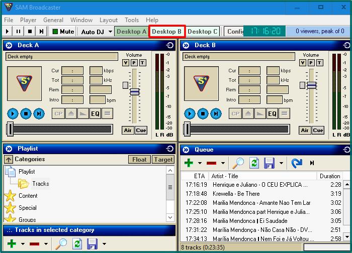 Selecione a opção 'Desktop B'